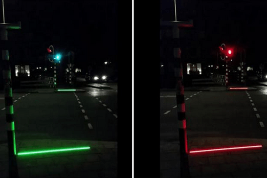Dutch town installs LED pavement strips to alert distracted smartphone users