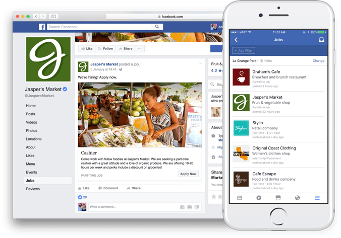 Facebook harnesses the power of business pages for new job openings tool