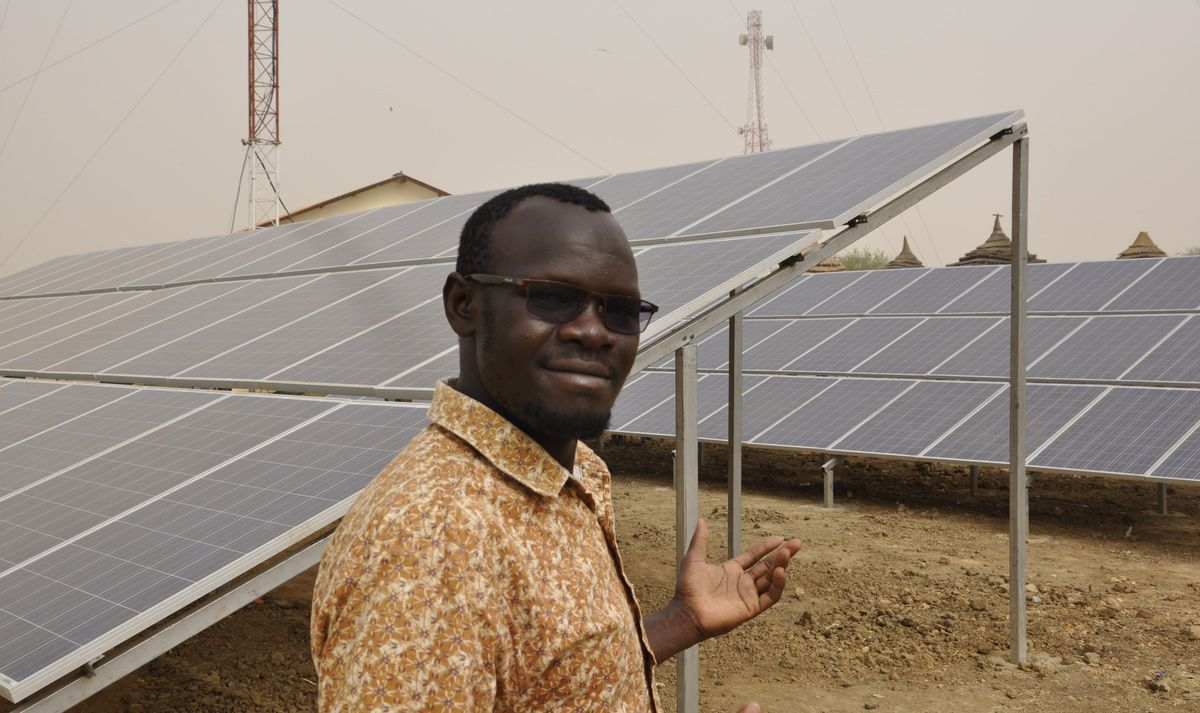 Issa Kassimu and his solar (lightbulb) idea are changing how radio works in South Sudan.