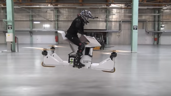 The first manned hoverbike could finally fulfill your 'Star Wars' dreams