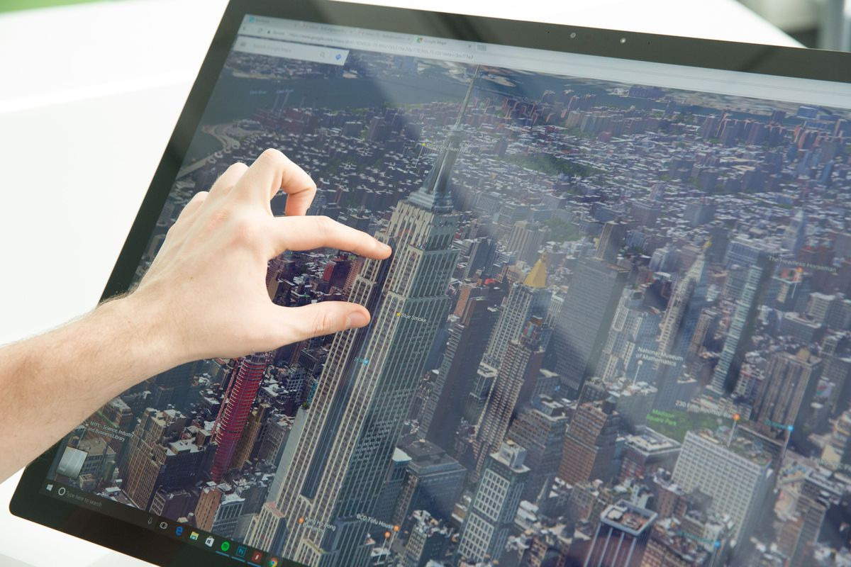 3D Google Maps on the Surface Studio is an insanely fun and beautiful experience.