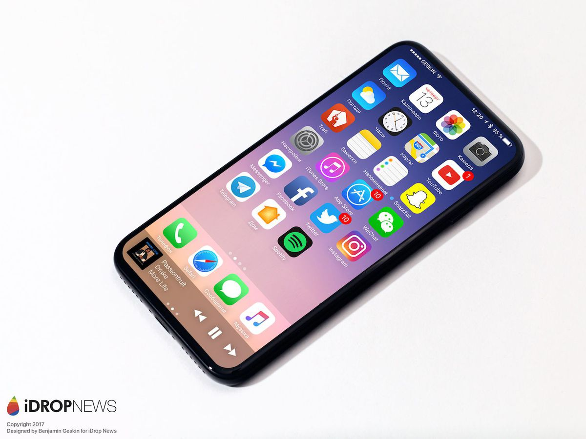 If the latest rumor is accurate, the next iPhone will have both the selfie camera and the fingerprint sensor embedded into the display. There's no word on the speaker grille.