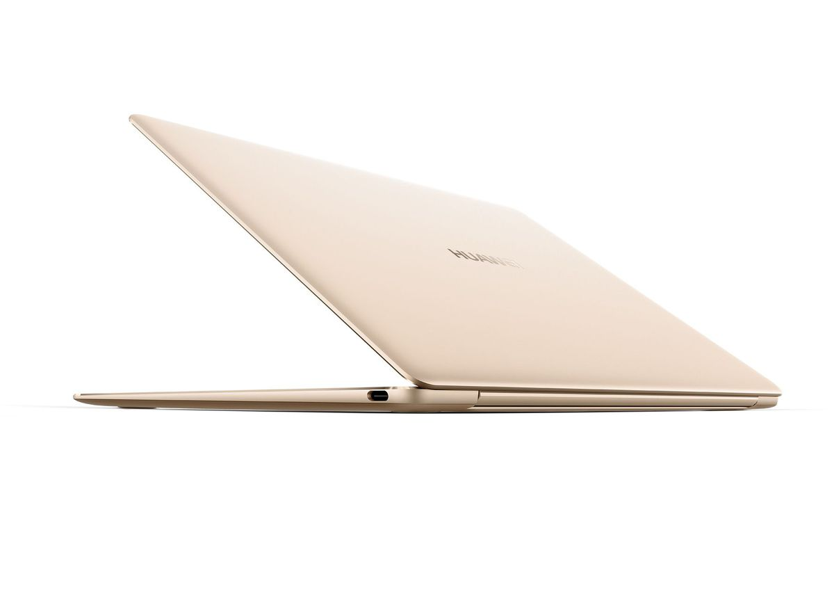 The MateBook X has two USB-C ports and a headphone jack.