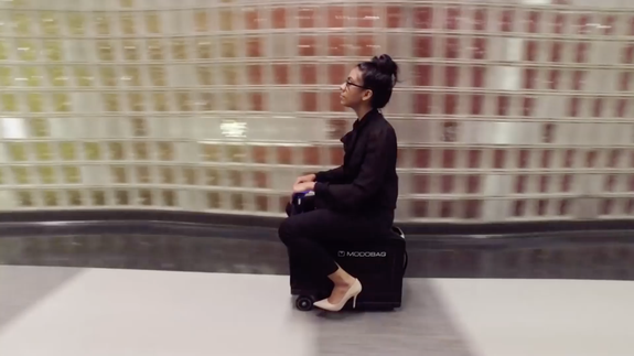 World travelers will love this suitcase that doubles as a scooter
