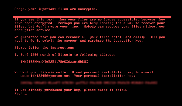 The NotPetya ransom screen.