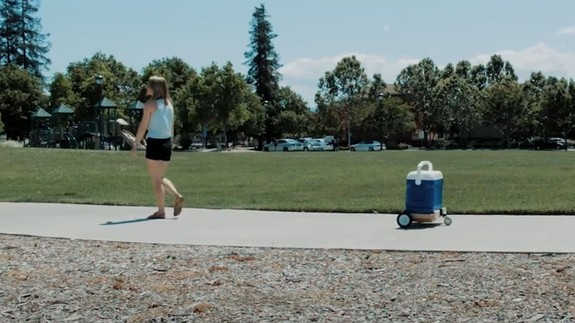 Beat the summer heat with a pet-like cooler that follows you around