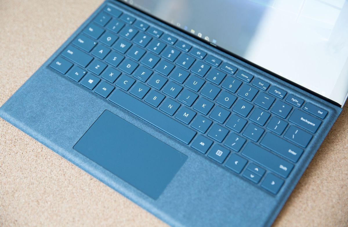 The Type Cover has an updated keyboard and trackpad. They are a pleasure to use and use and use.