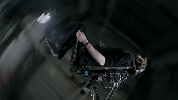 This homemade thrill ride's speed depends on how scared you are