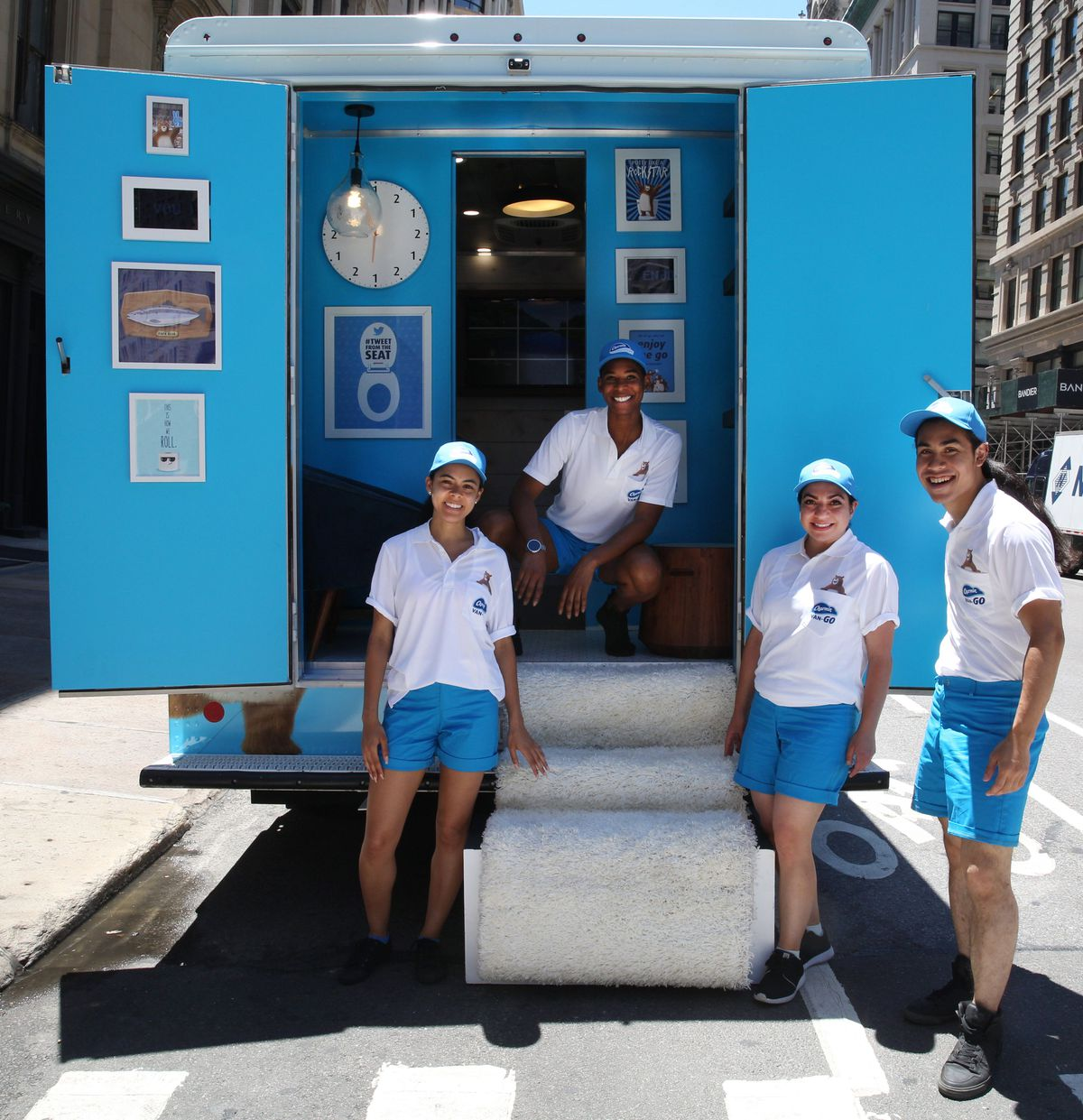 The Charmin Squad makes the mobile toilet experience even more extra.