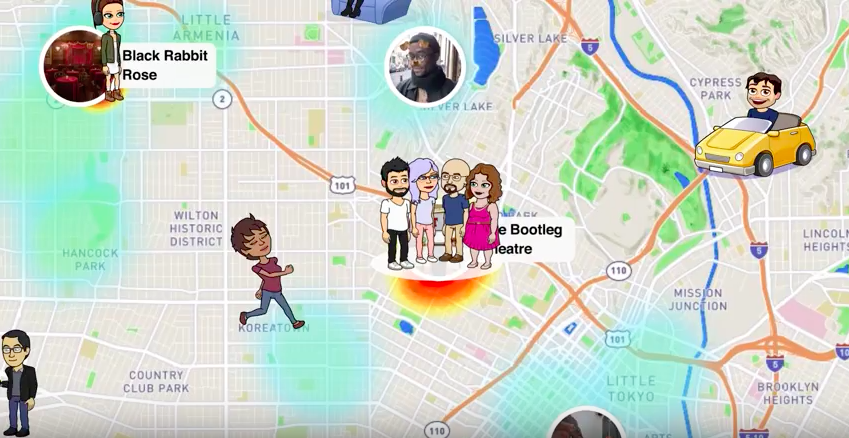 "Snapchat's new ""Snap Maps"" feature."
