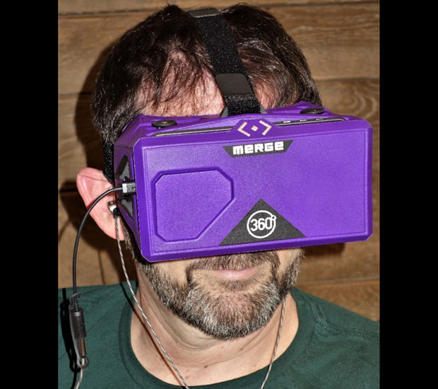 Merge VR Goggles With Earbuds