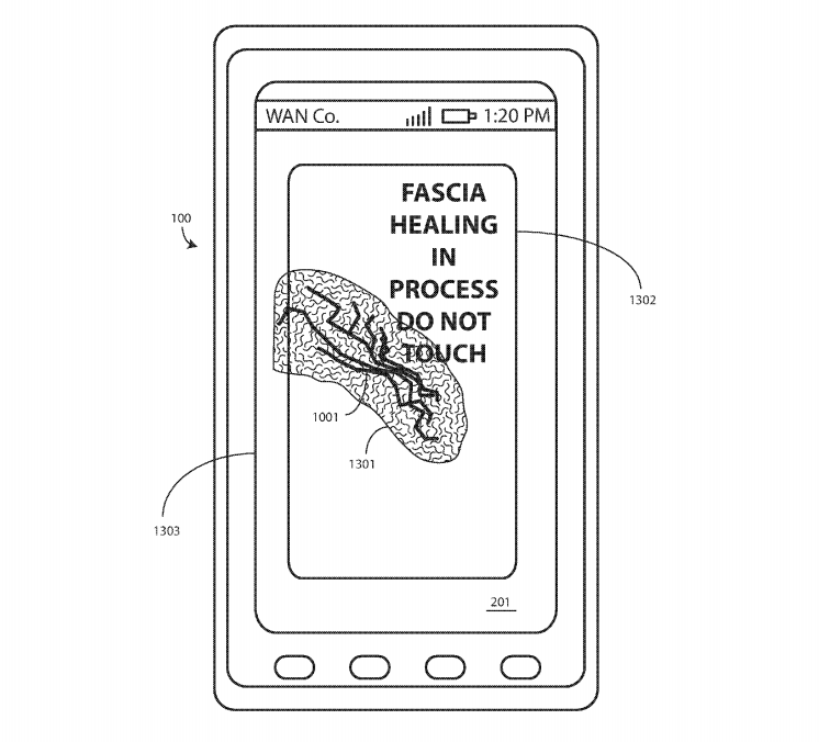 A new Motorola patent application shows a self-healing screen.