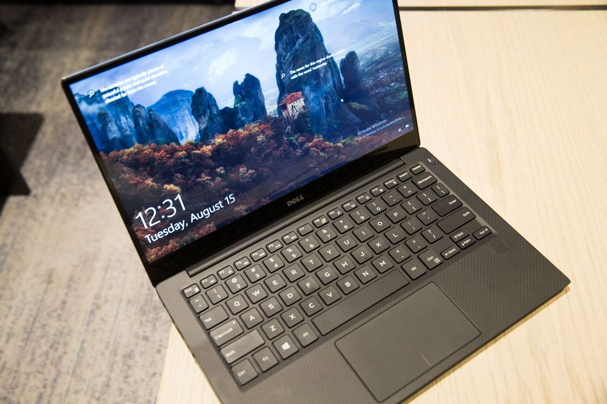 Dell's classic XPS 13 laptop with super thin bezels is one of the first to get the new chips.
