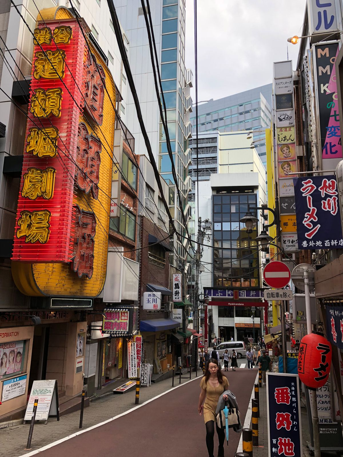 Japan's signage is beautiful in such a chaotic way. (Shot with Moment 18mm wide-angle lens).