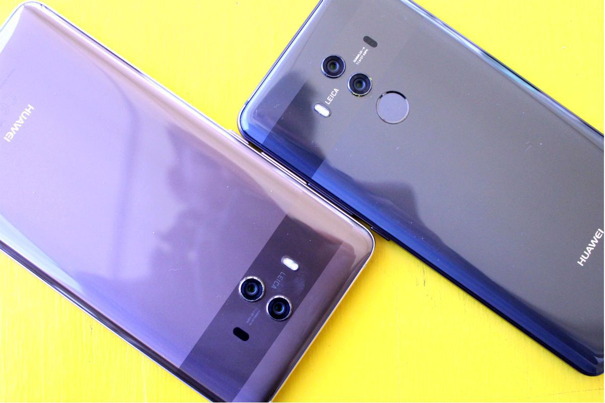 The Mate 10 doesn't look very different than the Mate 10 Pro but it feels much bigger in the hand.