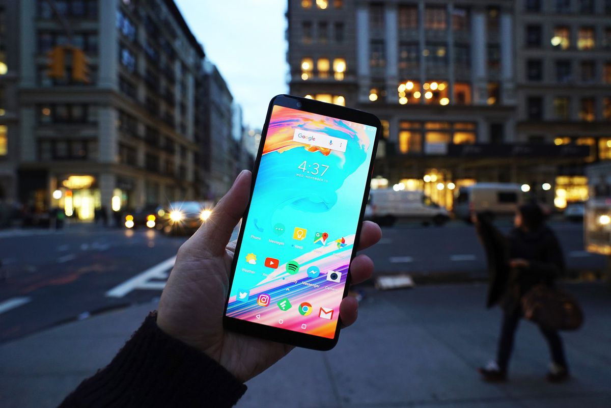 The OnePlus 5T has a larger 6.01-inch display and it's gorgeous even though it's not the sharpest on the market.