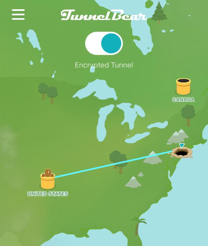 TunnelBear wins for graphics.