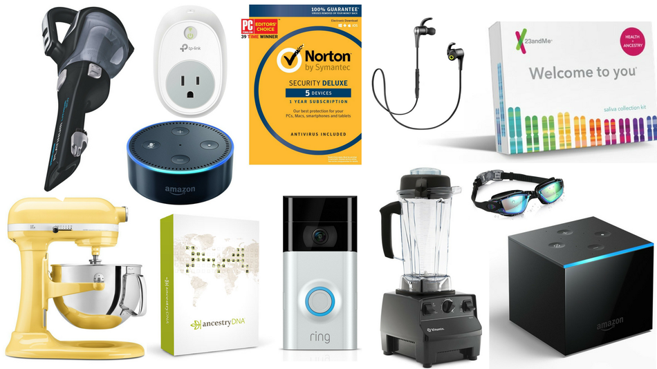 Memory foam pillows, Amazon Echo devices, and KitchenAid mixers are also on sale.