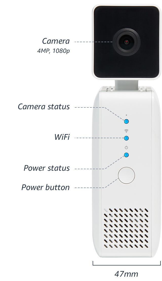 The front of the Amazon DeepLens camera.