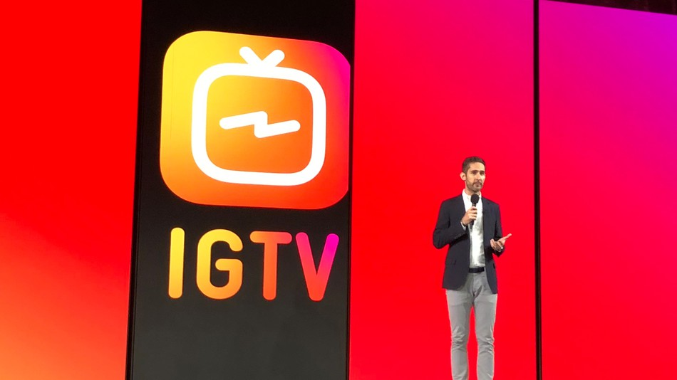 Instagram CEO Kevin Systrom speaks at a press event in SF.
