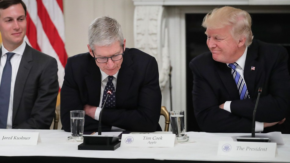 Trump and Tim Cook: BFFs?