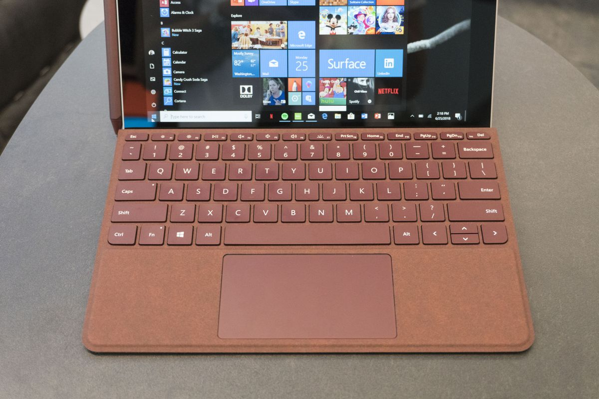 The $100 keyboard has the same felt-like Alcantara material as the Surface Pro's.