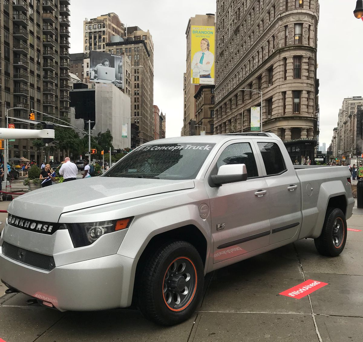 Workhorse says the W-15 electric pickup truck can do anything a gas pickup can.