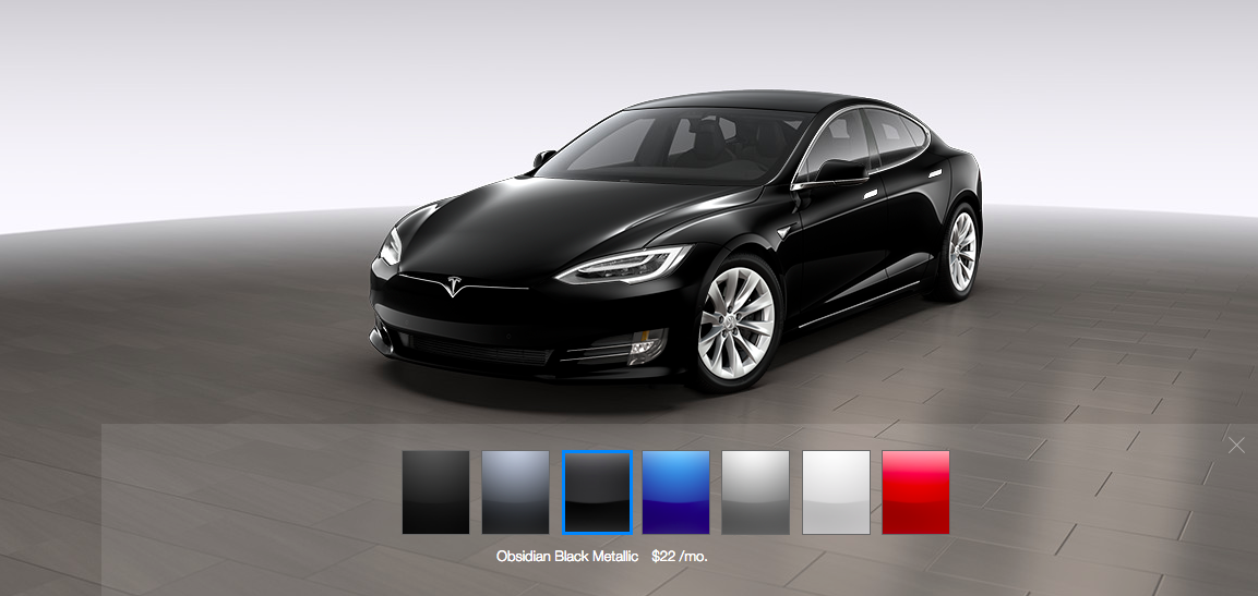 "A look at current Tesla paint options before two are moved to ""special order"" status."