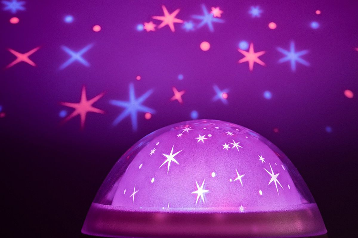 The Galaxy Clock projects stars on the ceiling and plays a range of white noises.