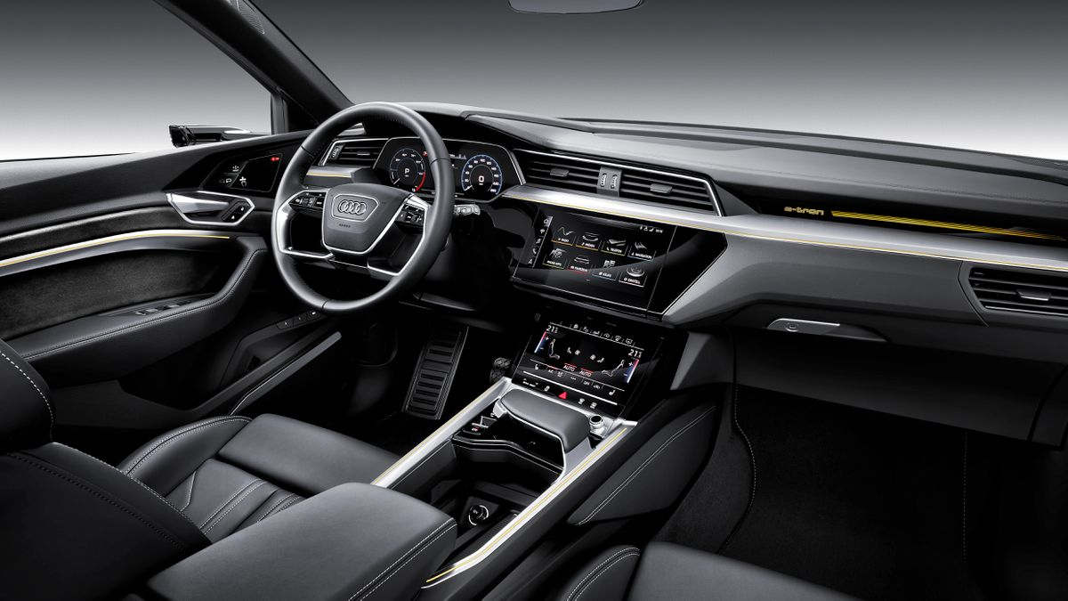 Look inside the Audi e-tron and you'll see screens.