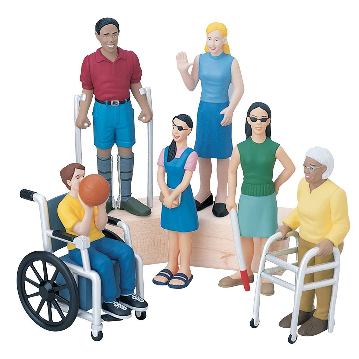 The Friends with Diverse Abilities set brings inclusivity into a dollhouse.