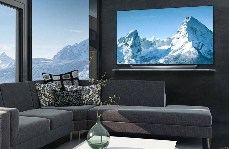 That's not a window, it's a TV — and it's gorgeous.