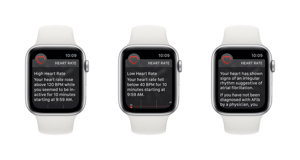 Irregular heart rhythm notifications work in the background and supports Series 1-4.