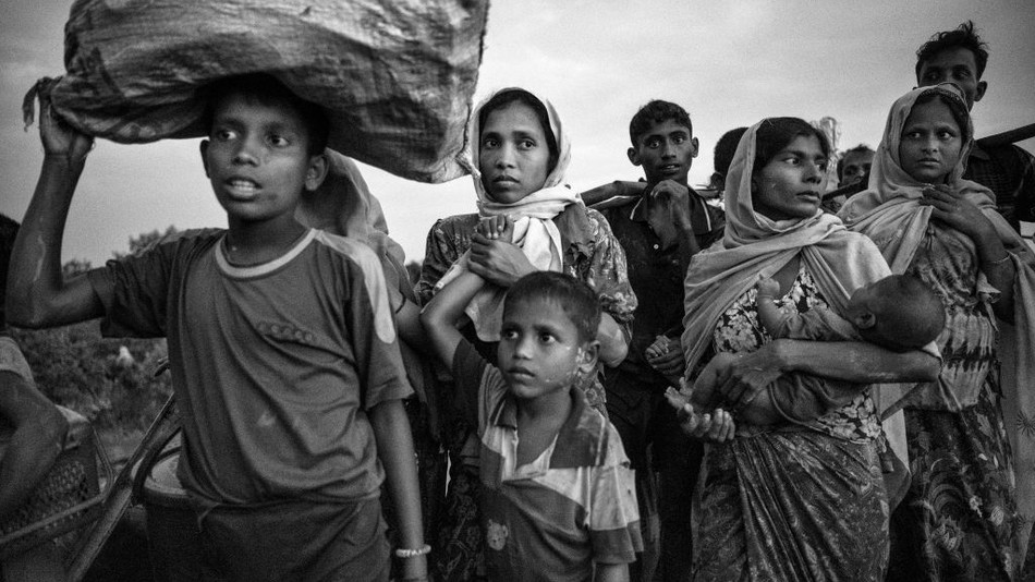 """More than 600,000 Rohingya refugees have flooded into Bangladesh to flee an offensive by Myanmar's military that the United Nations has called """"a textbook example of ethnic cleansing."""""""