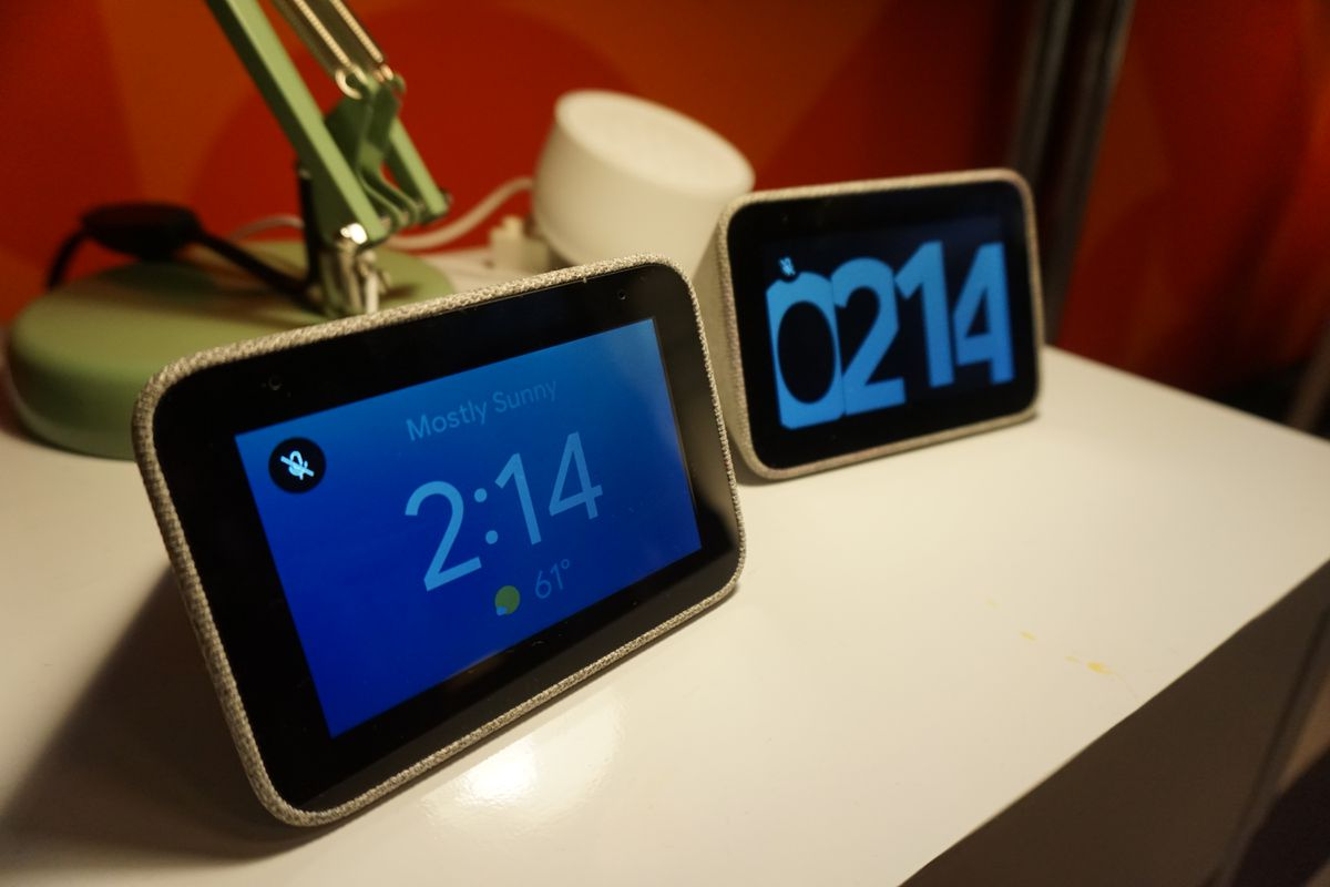 Lenovo's Smart Alarm Clock has different clock faces to choose from.