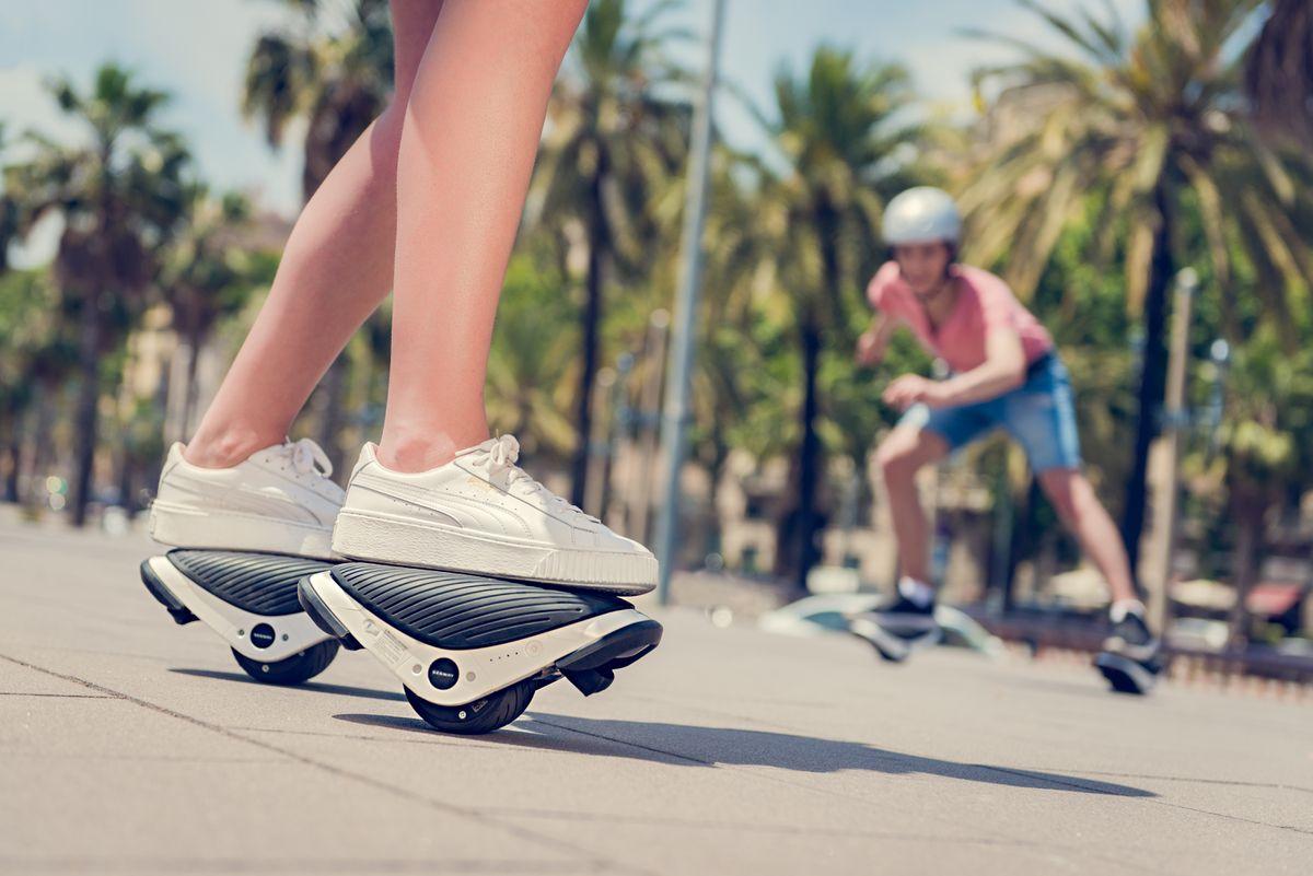 E-Skates to awkwardly ride away.