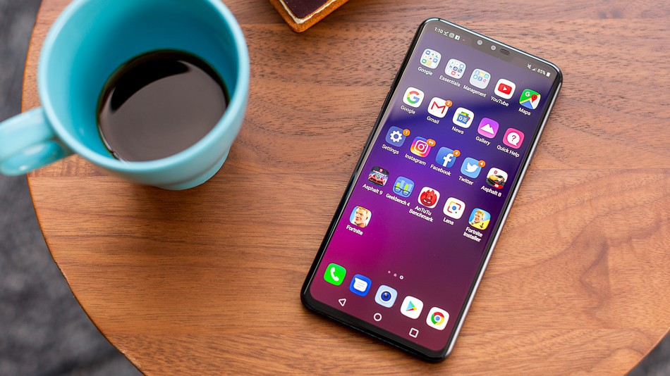 The LG V40 ThinQ (pictured) might be replaced with a 5G-ready V50 ThinQ.