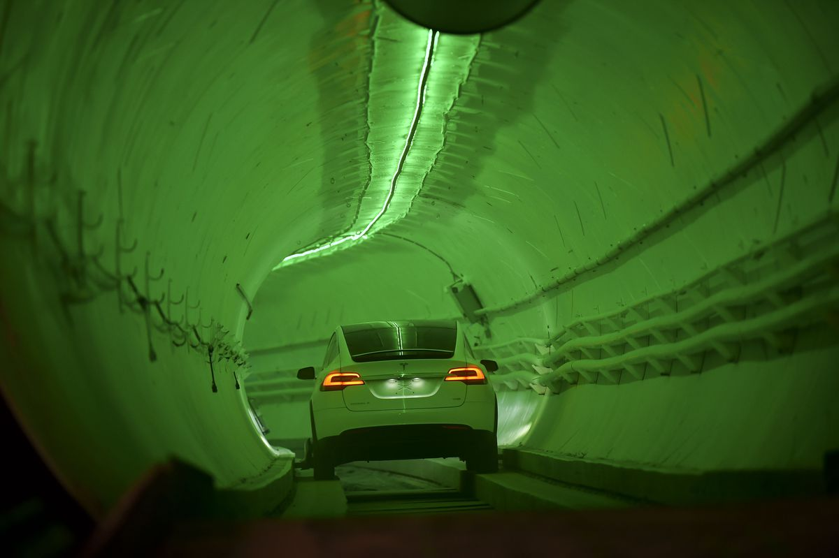 Elon Musk's The Boring Company Unveils Test Tunnel In California