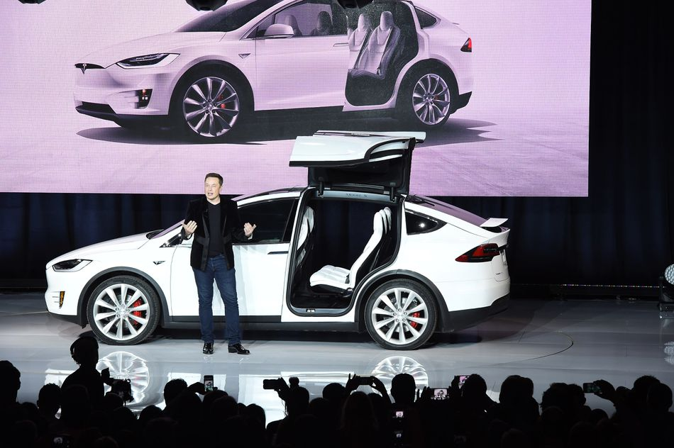 Tesla CEO Elon Musk launches the Model X in 2015.