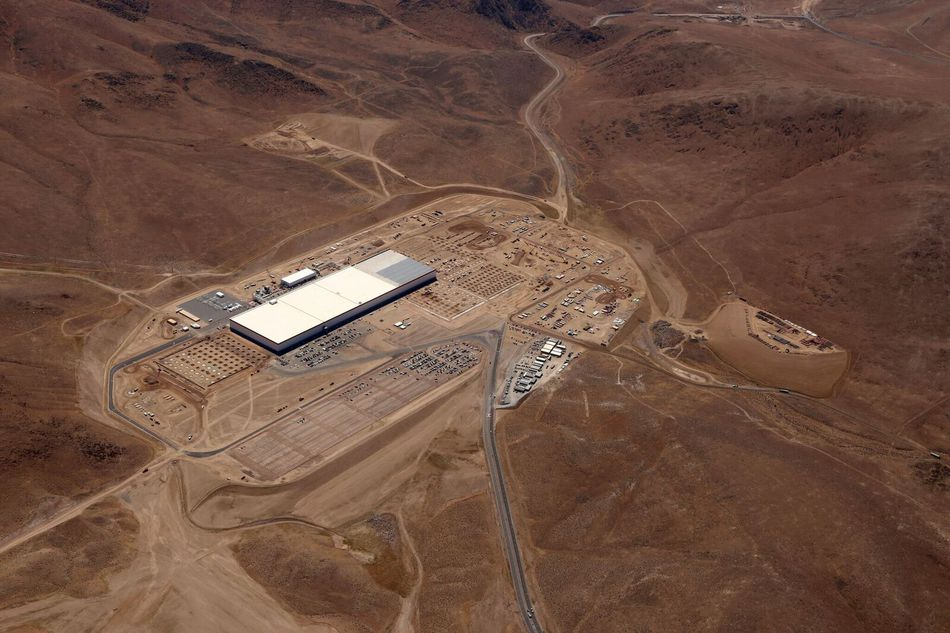 A Gigafactory for Tesla battery production in Nevada