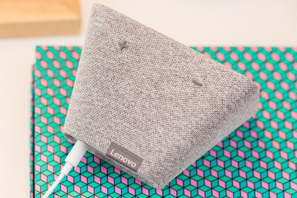 The Lenovo Smart Clock's got a speaker, but it's not gonna knock your socks off.