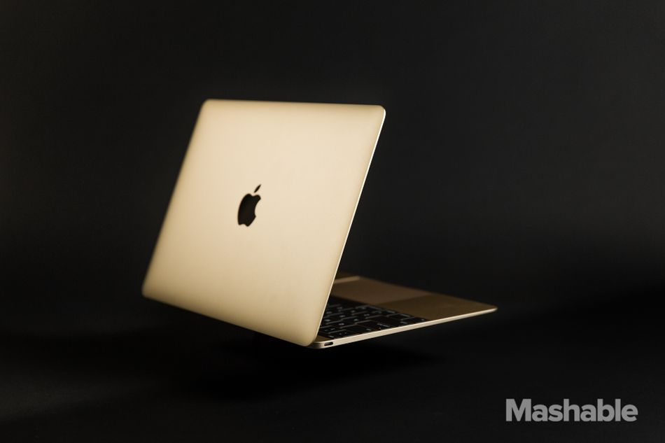 The MacBook was Apple's first laptop to come in gold.