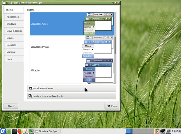 Slackel's Openbox Configuration Manager panel