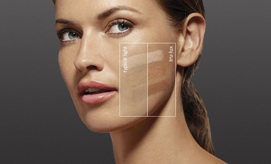 The tru-lux light system shows you what your skin will actually look like in natural sunlight.