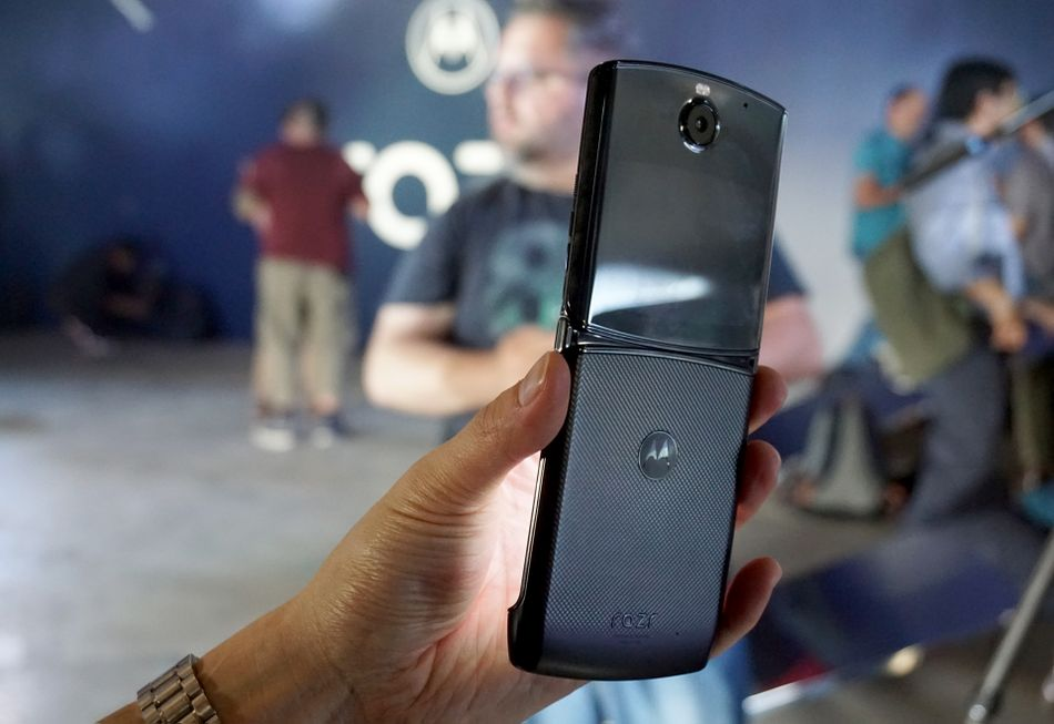The 16MP camera is the rear camera when unfolded, and the front camera when folded.