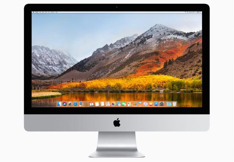 Apple iMac running macOS High Sierra.