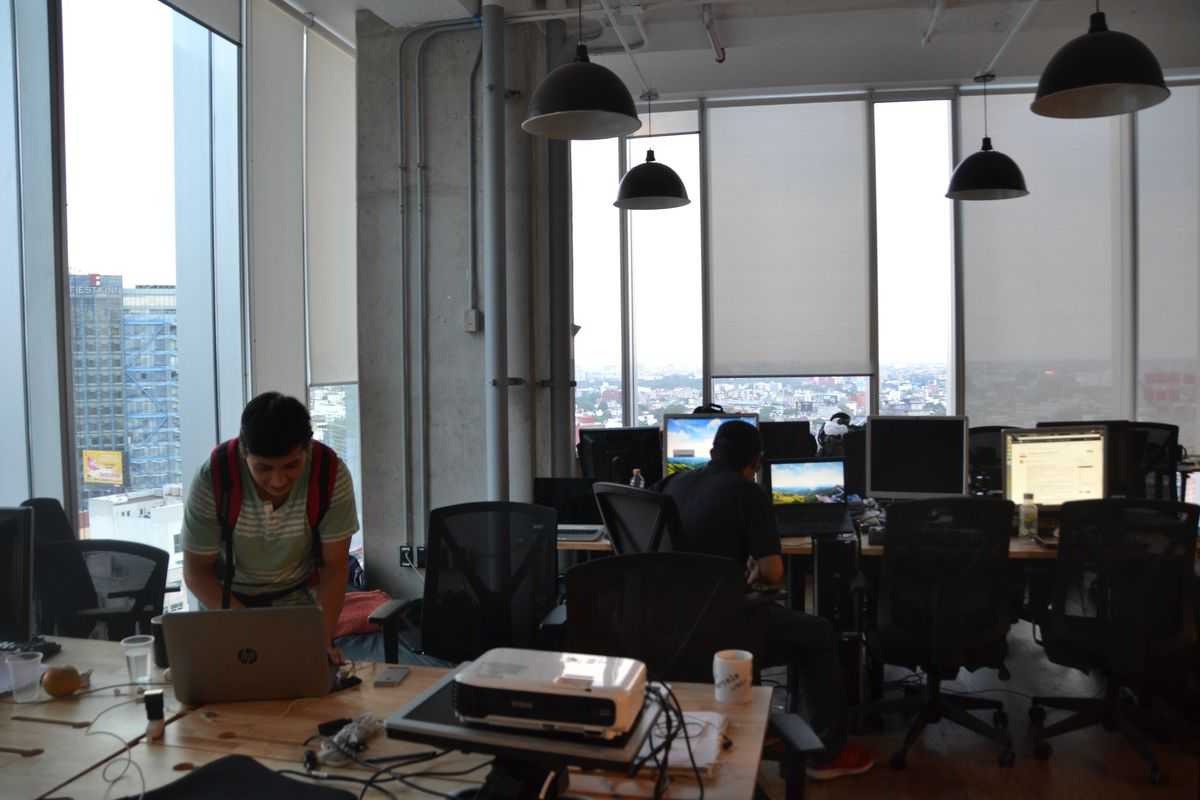 The scene at Hola Code in Mexico City, Mexico.