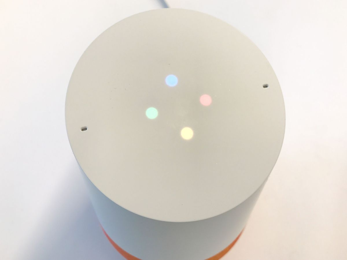"""Four dots light up when you say """"OK Google."""""""