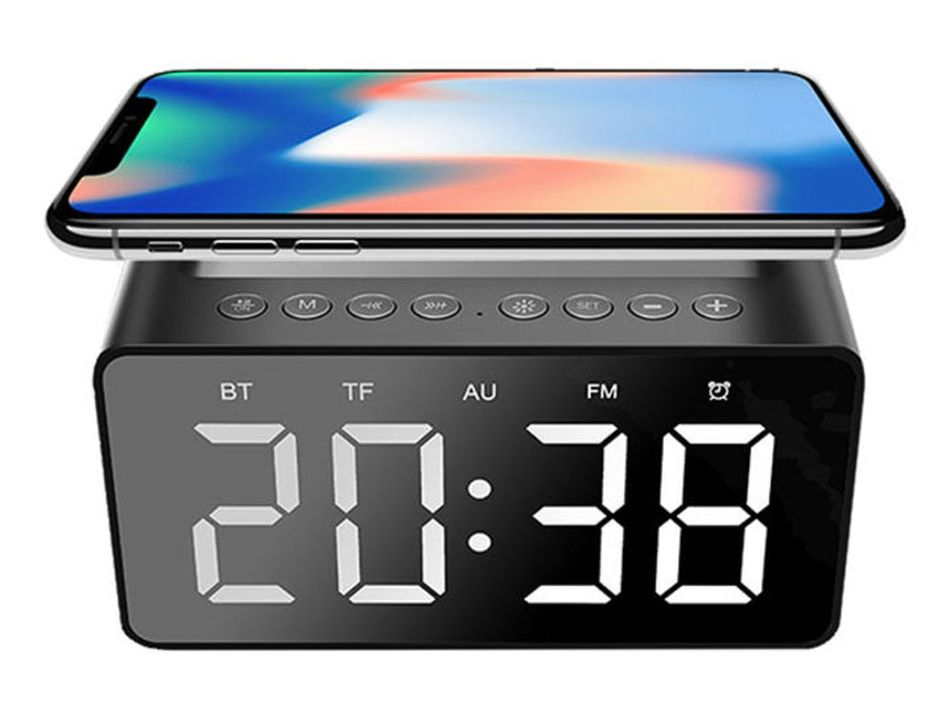 Wake up to your favorite music and a charged phone with this cool gadget