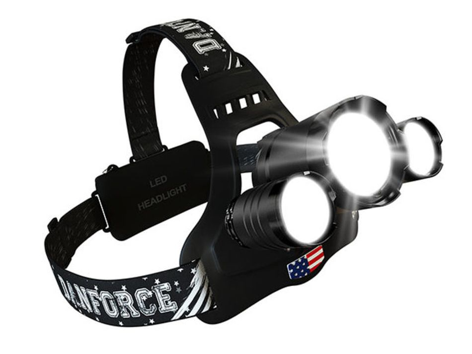 Save on a powerful triple headlamp that's great for camping